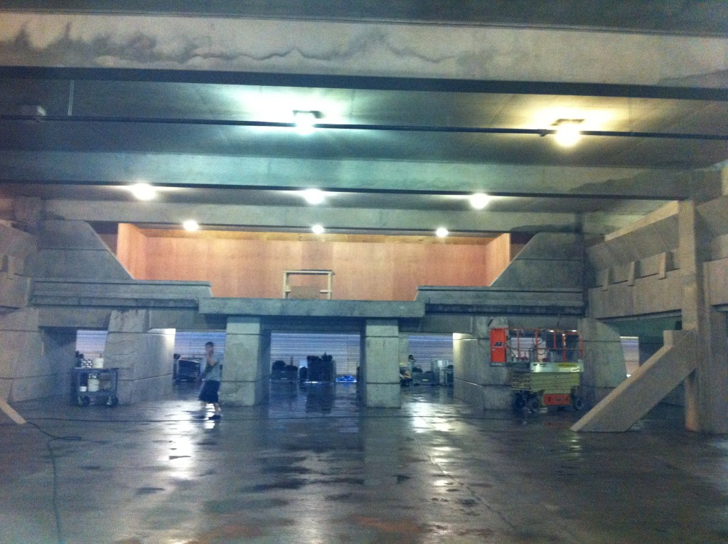 Movie Set Parking Garage Cleaning