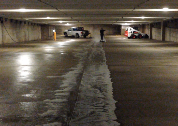 Parking Garage Power Washing Chicago